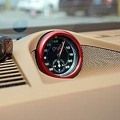Idea Regalo - Yuzhongtian metallo interno rosso Center console orologio bussola cover Trim 1PCS per Panamera 97120172018