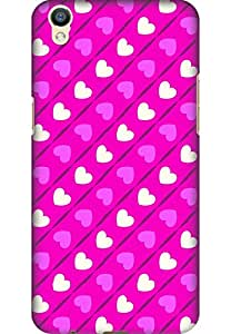 Amez designer printed 3d premium high quality back case cover for Oppo R9 (Romantic Pink Color Hearts9)