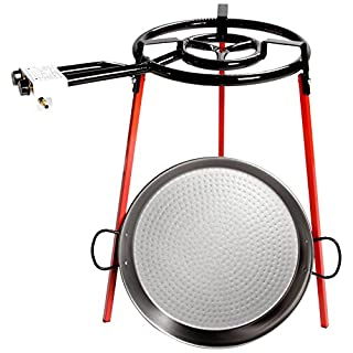 Vaello Campos S. L. 6140 46 Centimeter Polished Steel Paella Kit