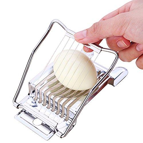 Egg Slicer & Egg Slicer Cutter - Fancy Multi-Lappen-Segmentierung - Edelstahl