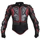 Moto Cross Enduro Motorrad Protektorenjacke Zum Herrenmode Motorrad Skilaufen Coat Zum Fahren Brustprotektor Protektor Jacke (Color : Rot, Size : M)