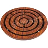 "Stonkraft 6"" Inch Handcrafted Wooden Labyrinth Board Game Ball In A Maze Puzzle Toys - Indoor Puzzle Game Gifts For Kids 