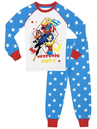 DC Superhero Mädchen DC Superhero Schlafanzug - Slim Fit - 116 (Batgirl Kinder-schlafanzug)