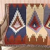 AFAHXX American Style Sofa [Staub-Proof] Sofahusse sofaüberwurf,Decke Dekoration Wohnzimmer Decke zu werfen Quaste Sofabezug für Sofa Sofa Couch Stuhl möbel-A 160x220cm(63x87inch)