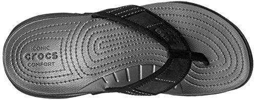 crocs Herren Swiftwater Flip Men Zehentrenner Grau (Graphite/Black)