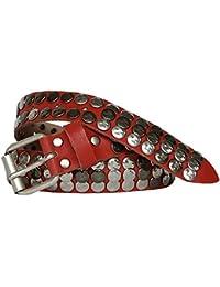 Vanzetti ceinture enfant Rouge avec rivets argentés, Largeur 3 cm vj050 ... 4c50a65785f