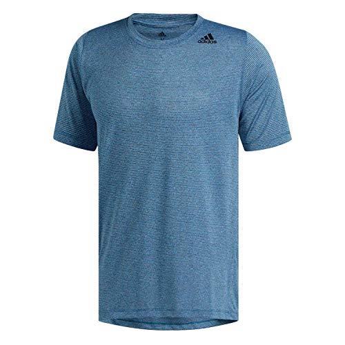 adidas Herren Freelift Tech Climacool Fitted T-Shirt, Shock Cyan/Heather, S