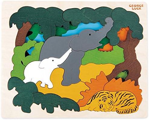 Hape Hape Hape - E6522 - George Luck - Puzzle - Animaux Polaires - 34 pièces | France  793cca
