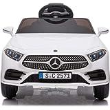 Babycar Mercedes CLS 350 AMG ( Bianca ) Nuova con Sedile in Pelle Macchina Elettrica per Bambini Ufficiale con Licenza 12 Vol
