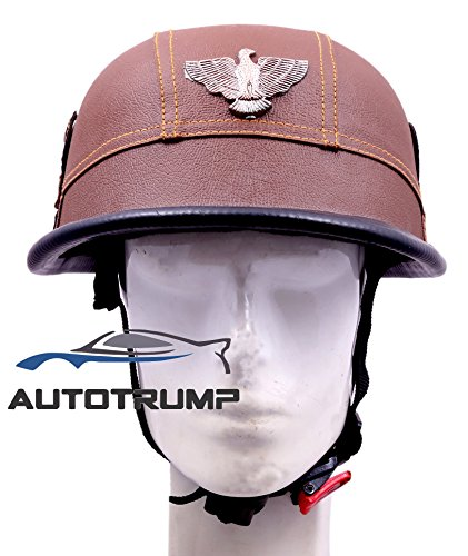 AUTOTRUMP Brown German Style Motorcycle Half Helmet Biker Chopper Novelty