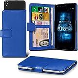(Blue) Aldi Medion Life X5001 Hülle Abdeckung Cover Case schutzhülle Tasche Verstellbarer Feder Mappe Identifikation-Kartenhalter-Kasten-Abdeckung ONX3