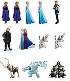 Support de la Reine des neiges personnages de 12 décorations comestibles en Papier de riz comestible pour gâteaux