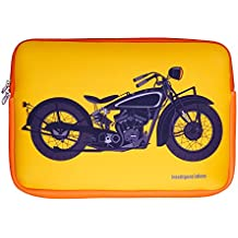 Neoprene Material 15.6 Inch Laptop Sleeve By Intelligent Idiots With Bike Theme, (29 X 41 X 2.5 Cms)