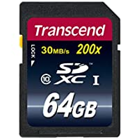 Transcend Extreme-Speed SDXC 64GB Class 10 Speicherkarte (bis 22MB/s Lesen) [Amazon Frustfreie Verpackung]