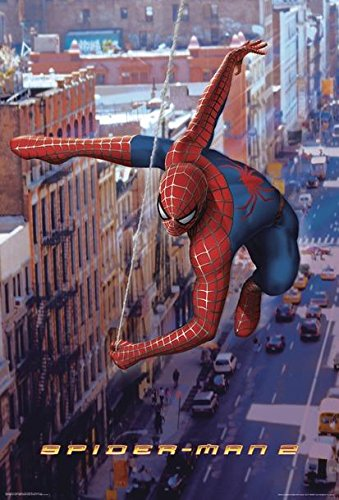 2 Poster Spiderman Swinging (68,5 x 101,5 cm) + Ü-Poster ()