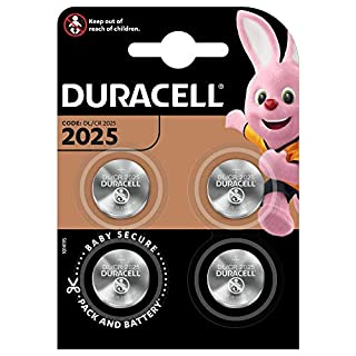 Duracell Specialty 2025 Lithium Coin Battery 3 V, Pack of 4 (DL2025/CR2025) Suitable for Use in Keyfobs, Scales, Wearables and Medical Devices (B01CG0ZBPK) | Amazon price tracker / tracking, Amazon price history charts, Amazon price watches, Amazon price drop alerts