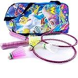 Elan BS-K-001 Badminton Racquet Set, Kids Pack of 3 (Pink)
