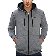 AWG - All Weather Gear Men's Melange Cotton Blended Grindle Sweatshirt with Zip