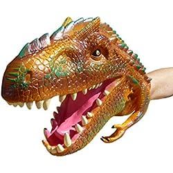 Guantes A177 dinosaurio, dinosaurio cabeza como marioneta de mano para la pequeña y gran diversión