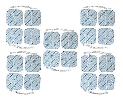Healthcare World TENS EMS lectrodes Suprieures 5cm x 5cm Paquet de 20 Autocollantes pour Appareil Electrostimulation