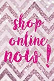 Shop Online Now!: Blank Lined Notebook ( Shopping Online ) Pink Stripes