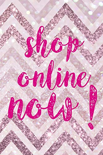 Shop Online Now!: Blank Lined Notebook ( Shopping Online ) Pink Stripes (Download Amazon Gift Card)