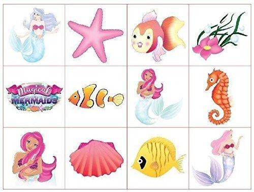 Mermaid Temporary Tattoos For Girls