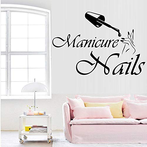 Wandaufkleber Fashion Vinyl Wall Decal Nails Design Interior Manicure For Beauty Salon Window Decoration Sticker 30 * 45Cm