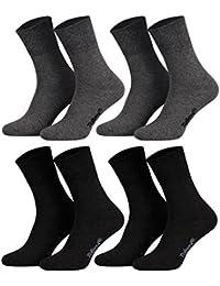 Tobeni 8 Paires de Chaussettes en Coton avec Bande de Confort sans Caoutchouc pour Femme et Homme