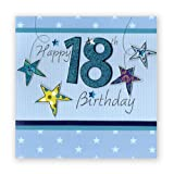 Second Nature Glückwunschkarte zum 18. Geburtstag, Blau