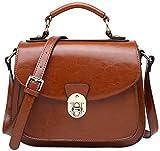 BOYATU Sacs à main en cuir pour femmes mignon sac d'épaule Vintage Messenger Satchel