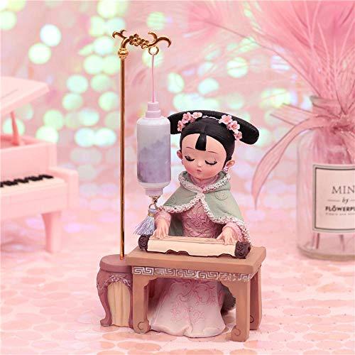 Led Nachtlicht Nachtlicht Nachttischlampe Chinesische Zither Schach Buchmalerei Ornamente Mädchen Herz Freundinnen Klassenkameraden Geburtstagsgeschenk-Spiel zu senden