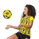 BVB-Frauen-T-Shirt, Gelb mit BVB-Flag-Logo, 100% Baumwolle, S-3XL S