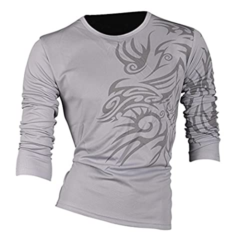 jeansian Mens Casual Long Sleeve T-Shirts Crew Neck Tee Fashion