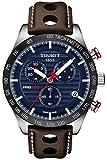 Reloj Tissot PRS 516 para hombre, con esfera azul, cronógrafo y correa, T1004171604100
