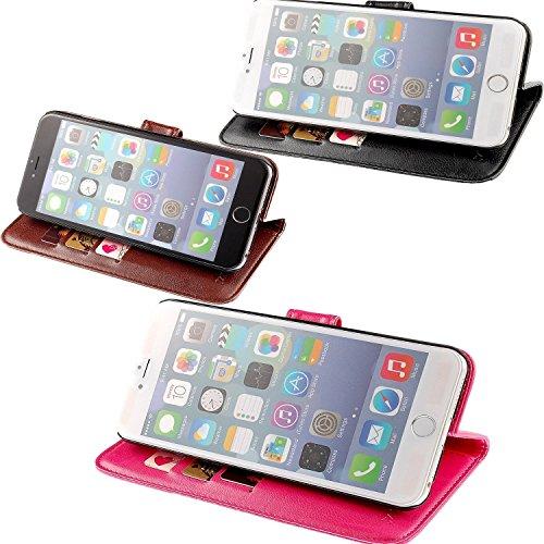 JZK® 2 x Custodia cover case in pelle per iphone 6 plus iphone 6s plus, stile a libro e portafoglio, porta carte di credito con chiusura magnetica e supporto orizzontale, custodia flip per iphone 6 pl 2 Custodia per iphone 6 plus 6s plus