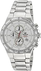 Casio Edifice Tachymeter Chronograph White Dial Men's Watch - EF-546D-7AVDF (ED398)