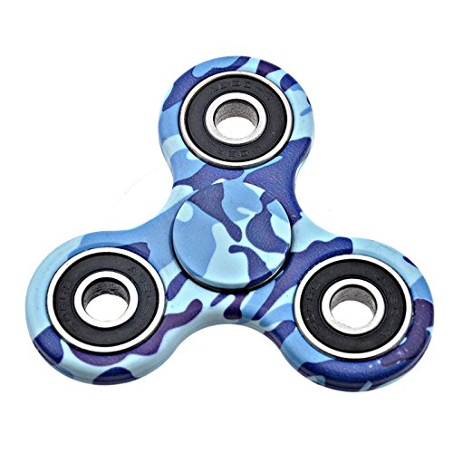 Fidget Spinner for Stress Relief Focus Toy Anxiety Boredom Reducer 1.30 to 2 min spin (Blue Naval color)