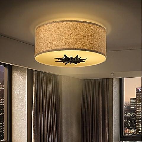 Retro- Leinengewebe-Deckenlampen-Wohnzimmer-Raum-Studie-Beleuchtung (Benutzerdefinierte Body Art)
