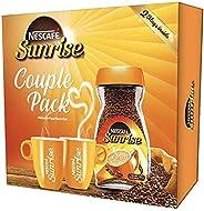 Nescafe Sunrise Coffee Couple Pack - 200g Jar with 2 Coffee Mugs