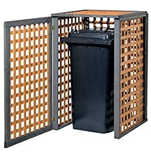 Holz Mülltonnenbox Kaprun für 2x Mülltonnen 240Liter erweiterbar