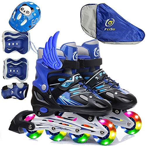 LXIANGP Roller Schuhe Unisex,Fliegende Schuhe mit Rädern Jungen und Mädchen Schlittschuhe Rollschuhe Kinder Vollblitz Einzelblitz LED-Leuchten Schuhe mit...