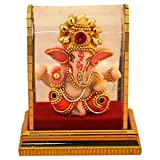 Aica Lord Ganesha Ganesh Ganpati idol murti statue idols Car Dashboard Hindu Figurine Showpiece showpieces gift gifts home decor office puja pooja temple room living room house warming