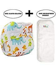 Tinytots Baby Suede Pocket Diapers with Microfiber Insert - Animals2