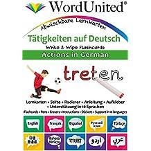 Actions in German: Write & Wipe Flashcards
