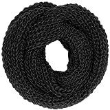 CASPAR warmer Damen Grobstrick Loop / Schlauchschal - klassisch und schlicht - EXTRA GROSS UND WARM - viele Farben - SC242, Farbe:schwarz