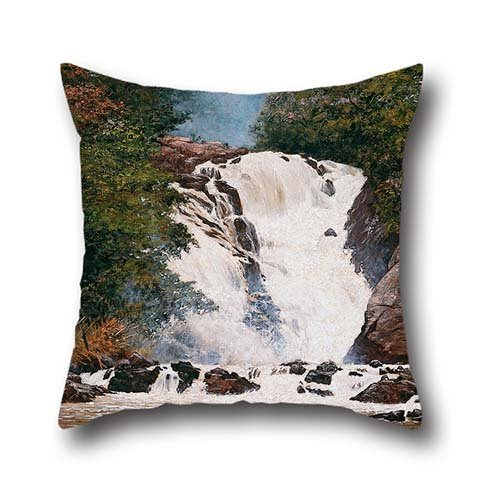 oil-painting-almeida-jonior-votorantim-waterfall-pillow-covers-16-x-16-inch-40-by-40-cm-for-seatchri