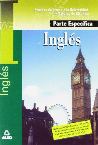 Inglés. Prueba específica. Prueba acceso universidad