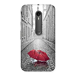 Stylish Tower Red Umbrella Multicolor Back Case Cover for Moto G3