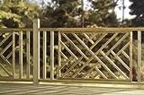 Kreuz Hatch Sonnendeck-Paneele-Modernes Holz Design-Druck behandelt Panel